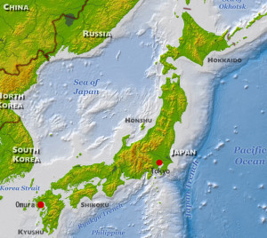 Japan Map (Color) (Omura)